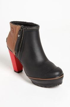 SOREL 'Medina' Rain Ankle Boot  Womens Black 9 M from Nordstrom on shop.CatalogSpree.com, your personal digital mall.