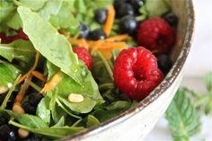 Vegan fresh summer salad