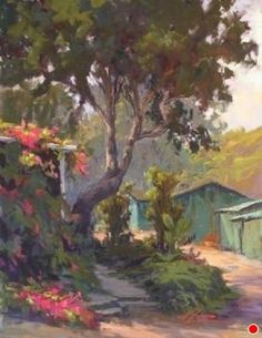Crystal Cove Bougainvillea by Kim Lordier Pastel ~ 18 x 14