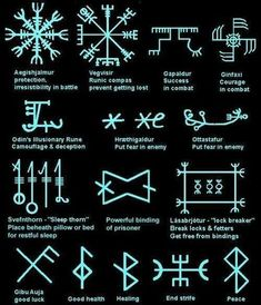 MysticEchoes on – Kochen – diy best tattoo images – Norse Mythology-Vikings-Tattoo Rune Symbols And Meanings, Magic Symbols, Ancient Symbols, Nordic Symbols, Egyptian Symbols, Medieval Symbols, Glyphs Symbols, Aztec Symbols, Ancient Art