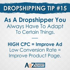 As a dropshipper you always have to adapt to certain things. Things to keep in mind for best dropshipping need to adapt High CPC = Improve Ad Low conversion rate = Improve product page. DM us to start your online dropshipping business. #business #onlinebussines #businessideas #businessinspiration #shopifydropshipping #foryou #shopifydesigner @google @oberloapp @shopifyexpert @shopify Drop Shipping Business, Product Page, Business Inspiration, Digital Marketing Services, Keep In Mind, Web Design, Branding, Ads, Writing