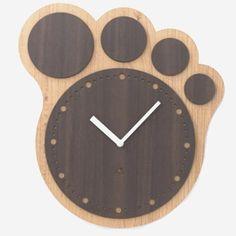 Big Paw Print Shape Wall Clock Bear/Dog/Cat Animal Footprint Decor #Paw