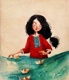 Pinzellades al món: Navega la vida en vaixells de paper / Navega la vida en un barco de papel / Keeps life in a paper boat