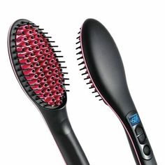 1 pcs Portable Size Handheld Hair Straight Electric Brush Professional LCD Display Fast Hair Straightener Comb new Fast Hairstyles, Straight Hairstyles, Ceramic Straightening Brush, Hair Straightening, Electric Hair Brush, Ionic Hair Brush, Ceramic Brush, Best Hair Straightener, Advanced Ceramics