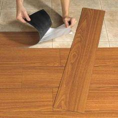 those ugly floors with vinyl plank flooring. Update those ugly floors with vinyl plank flooring. Camper Hacks, Rv Hacks, Caravan Hacks, Caravan Ideas, Rv Campers, Happy Campers, Teardrop Campers, Teardrop Trailer, Peel And Stick Wood