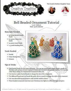 Bell Beaded Ornament Tutorial PDF Download by creativetradition