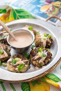 Vegan Artichoke Crab Cakes with Sriracha Tartar Sauce