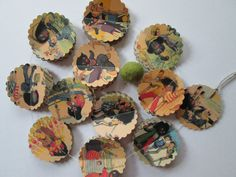 Golliwogg Vintage Inspired Paper Garland by futtatinni on Etsy, $10.00