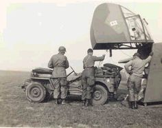 WWII glider jeep delivery