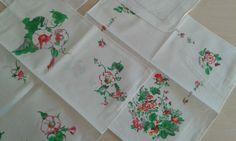 6Taschentücher bunte Blumen Baumwolle,DDR | eBay
