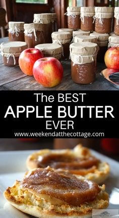 Made with Gala and Ambrosia Apples with the skin on this APPLE BUTTER is incredible and no peeling! Serve on toast with crackers and cheese or as a yogurt topping. A jar of Apple Butter also makes great holiday gift. Homemade Apple Butter, Apple Butter Recipe Using Applesauce, Healthy Apple Butter Recipe, Amish Apple Butter Recipe, Homemade Jam Recipes, Crockpot Apple Butter, Apple Recipes Easy Quick, Apple Pie Recipe Easy, Easy Pie Recipes