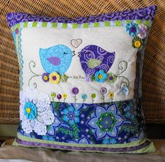 Love Birds in Blue and Purple  Contemporary by sarahjthomas, $72.00