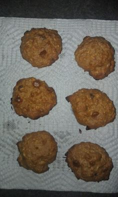 Healthy cookies that I just made so I promise they are delicious! 1 1/2 cup dry oatmeal 1/2 cup almond butter(which I made homemade w/no sugar...super easy) 1 egg 2 egg whites 4 TBLSP honey 1tsp of baking powder 1 tsp sea salt 1/4 tsp almond extract (optional) 1/2 tsp vanilla extract(optional) 1/2 to 1 cup flavored chips of your choice but I used butterscotch & semi sweet chocolate chips. 350 degrees for 15 mins. Enjoy these yummy cookies without the guilt!