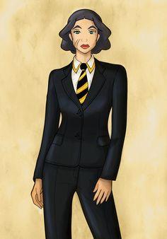 Lin Beifong as Agent Coulson by mujigae45.deviantart.com on @deviantART