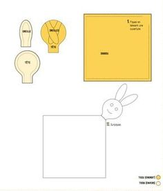 Patron de couture câlin: un lapin à coudre simple / Sie Spielzeugprodukte Sie Spielzeugprodukte Baby Sewing Projects, Sewing Patterns For Kids, Sewing For Kids, Sewing Tutorials, Diy For Kids, Dou Dou, Baby Couture, Sewing Toys, Baby Crafts