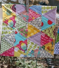 andie johnson sews: How to Use a 60-degree Quilting Ruler - Tutorial