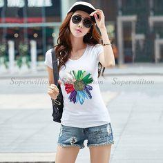 New 2017 Black White Color S-2XL Plain T Shirt Women Cotton Elastic Basic T-shirts Female Casual Tops Short Sleeve T-shirt Women