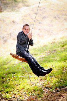 boy, tree, swing, love, laughter, playful, fun, photography  www.KeyandHeartPhotography.com