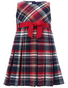 Checked Back To School Dress | Navy | Monsoon