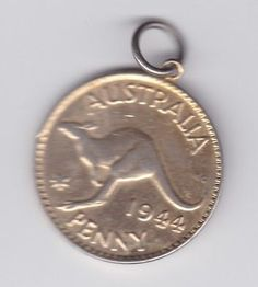 1944 gold plated #penny coin australia #pennant kangaroo #birth year  a-848,  View more on the LINK: http://www.zeppy.io/product/gb/2/222329667793/