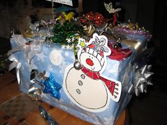 Gift box using bits of everything back view