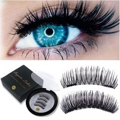 Magnetic Eyelashes False Eyelashes on the magnet Double Magnet Full Strip Magnetic Lashes Soft Hair Reusable Fake Eye Lashes - EyeBrowStencils United States - Shop Online World's Largest Best and Top Collection of EyeBrow Stencil 2020 Flutter Eyelashes, Fake Eyelashes, Beauty Killer, Eyebrow Stencil, Magnetic Lashes, Natural Lashes, Beauty Advice, Soft Hair