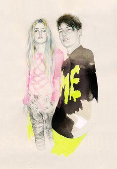 Fashion illustration by Natalia Sanabria