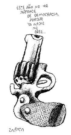 Caricatura de Zapata en la página de Opinión. Caracas, 24-02-2004. (PEDRO LEON ZAPATA / EL NACIONAL). Publicada: 25-11-2008. Nación 14