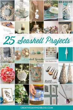 You can do practically anything with a handful of pretty shells, and best of all, they're FREE for the taking! Collect various shapes and sizes on your next trip to the beach, and turn them into one of these beautiful seashell projects. They truly are a work of art!