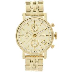 Fossil Boyfriend Watch ($125) ❤ liked on Polyvore