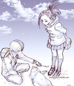 { boku no hero academia } ↳ winter todomomo -*sketch from sensei's twitter-*