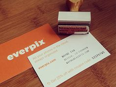 Combination print & stamp business card