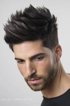Mens Hairstyles Oval Face, Short Spiky Hairstyles, Quiff Hairstyles, Heatless Hairstyles, Short Hair Cuts, Short Hair Styles, Men's Haircuts, Spiky Short Hair Men, Mens Spiked Hairstyles