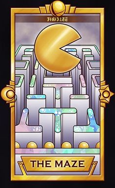 Pac-Man - The Maze by Quas-quas #PacMan #SSB #TarotCards