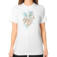 Space impact Unisex T-Shirt (on woman)
