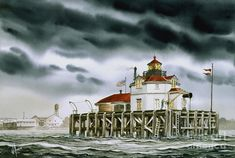 Landscape Art, Landscape Paintings, Watercolor Paintings, Watercolors, Brant Point Lighthouse, Harbor Lights, Lighthouse Painting, Lights Artist, Safe Harbor