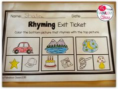 My Fabulous Class: Exit Tickets in Kindergarten