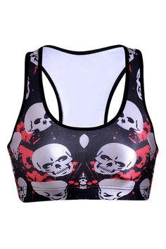 0aebe550004 2016 Hot Yoga Bra Running Sports Top Fitness Women Y-Strap Bodybuilding  Vest Slim Gym Tank Woman Tights Europe Skull LNSsb