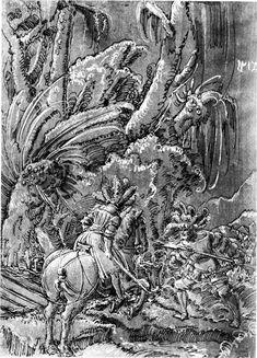 Battle Between Knights and Mercenary- Altdorfer Albrecht