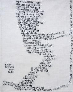 2014 '1259-1230' by Rieko Koga (born in Tokyo; based in Paris since 1993)
