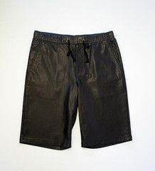 DANIEL WON COLLECTION - LUCAS WAFFLE SHORT IN PERFORATED LAMBSKIN