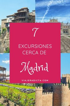No te pierdas estás 7 excursiones cerca de Madrid. #excursiones #madrid #españa Rv Travel, Places To Travel, Travel Tips, Places To Visit, Travel Around The World, Around The Worlds, Barcelona, To Go, Europe