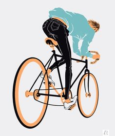 amazing bike illustration by Lucas Romano