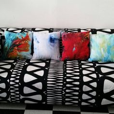 Blue and Brown Pillows Blue Pillow Covers Cushions Throw Purple Pillow Covers, Purple Pillows, Cushion Covers, Throw Pillow Covers, Brown Throw Pillows, Red Decorative Pillows, Geometric Cushions, How To Make Pillows, Etsy