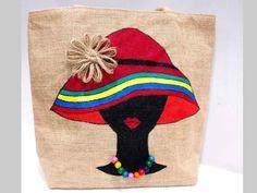 Best 12 is presenting for bag # jutebag # – SkillOfKing. Jute Tote Bags, Diy Tote Bag, Canvas Tote Bags, Jute Fabric, Fabric Bags, Pintura Tribal, Jute Shopping Bags, Painted Bags, Hand Painted