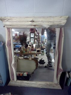 cedar log Mirror 39'' wide and 47'' tall At the Merchants Mall in Republic Mo