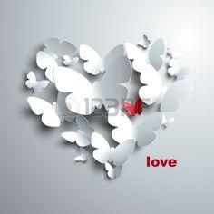 Kelebeklerin Sevgililer Kalp Stok Fotoğraf