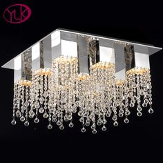 New Arrival Modern Crystal Chandelier For Living Room Top Quality Square Home Lighting Fixtures Chandeliers For Ceiling