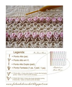 Ponto de croche tulipinhas