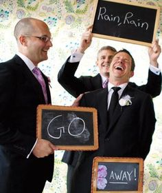 @Katie Kane The sentiment here is a little strange, but this is a super cute wedding photo idea!